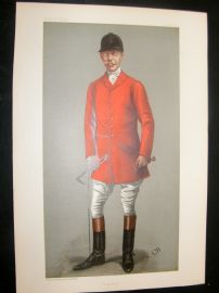 Vanity Fair Print 1900 Capt. Burns-Hartopp, Master of The Quorn, Foxhunter